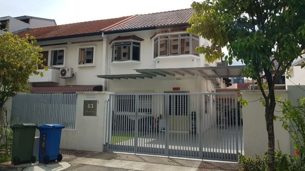 Carporch & Main Gate Work at 43 Jalan Terubok